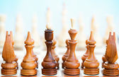 Chess pieces on a board — Stock Photo