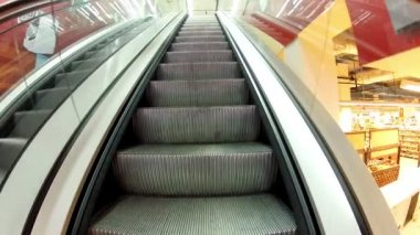Rise on the escalator — Stockvideo