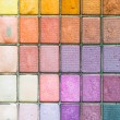 Stock Photo: Makeup colorful eyeshadow palettes