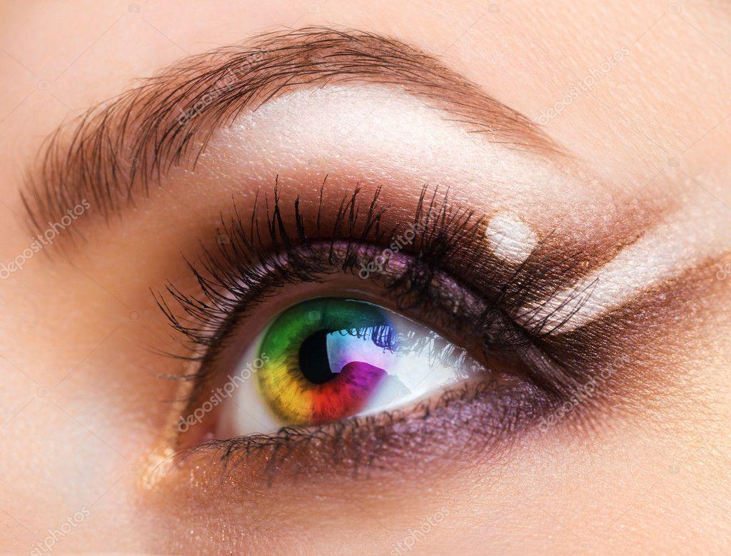 Фото женские глаза макияж