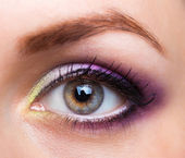 Closeup of beautiful eye with glamorous makeup — Stock Photo