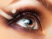 Closeup of beautiful eye with makeup — Stock Photo