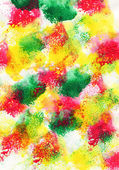 Colored watercolor brush strokes — Stock Photo