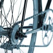 Stylish bicycle isolated on white — Stock Photo