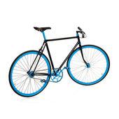 Stilvolle Fahrrad isoliert auf weiss — Stockfoto