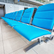 Seats at the airport in waiting lounge — Stock Photo
