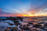 Tropical beach at sunset. — Stock Photo