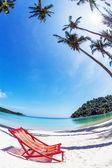 Sun beach chair at the beach — Stock Photo