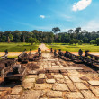 Road from ancient buddhist khmer temple in Angkor Wat complex — Stock Photo #13263083