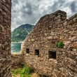 Old wall with windows seaview — Stockfoto