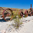 Old wagon in the Death Valley - Stock Photo