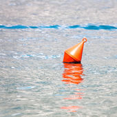 The red buoy in the sea — Stock Photo