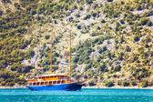 Embarcações de recreio em um estilo retrô — Foto Stock
