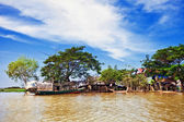 The village on the water — Stock Photo