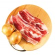 Red raw meat over white   — Foto Stock