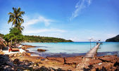 Tropical beach panorama — Stock Photo
