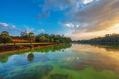 Sunrise at angkor wat temple — Stock Photo