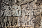 Bas-relief on the wall of Angkor Wat — Stock Photo