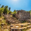 Stock Photo: Steps to old ortodox church at moutains