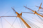 Sailboat masts — Stock Photo
