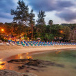 Evening at the beach — Stock Photo