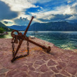 Old anchor on the waterfront — Stock Photo #31425165