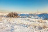 冬の下のフィールド — ストック写真