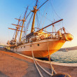 Old sailing ship in sunset light — Stock Photo #38118675