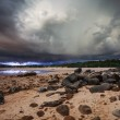 Thunder storm in the tropical sea — Stock Photo