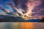 Gloomy sea sunset — Stock Photo