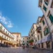 Old town of Kotor in fish-eye view — Stock Photo