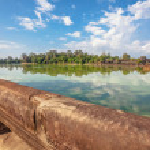 Lake near Angkor Wat — Stock Photo