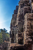 Faces of ancient Bayon Temple At Angkor Wat — Stock Photo