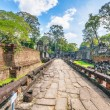 Ancient buddhist khmer temple in Angkor Wat complex — Stock Photo
