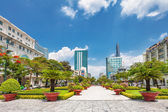 View from public park on Bitexco Financial Tower — Stock Photo