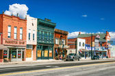 American authentic street in style wild west — Foto Stock