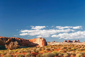 Sunny day in Arches Canyon — Stock Photo