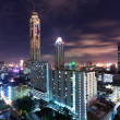 A view on the night city and Bayok Sky hotel of Bangkok — Stock Photo #8302601
