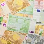 Euro banknotes, money background — Stock Photo #1616297