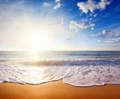 Sunset and sea — Stock Photo