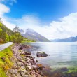 Beautiful Norway fjord Eidfjord - Stock Photo
