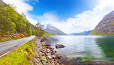Beautiful Norway fjord Eidfjord — Stock Photo