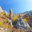 Autumn mountain. Ghost Valley, Demerdji, Crimea, Ukraine - Stock Photo