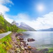Stock Photo: Beautiful Norway fjord Eidfjord