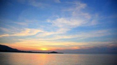 夕日と海 — ストックビデオ