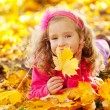 Happy girl in autumn park — Stock Photo #12159955