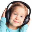 Royalty-Free Stock Photo: Little girl in headphones