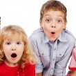 Children surprised — Stock Photo