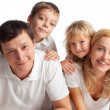 Family with two children — Stock Photo #12359731