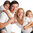 Family with two children — Stock Photo